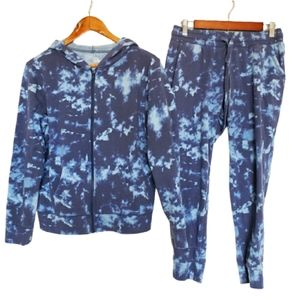 Pants - 2 for $25 blue tiedye jogger set